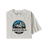 Patagonia Fitz Roy Scope Organic T-Shirt Blanc  M