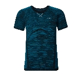 Odlo T-Shirt Manches Courtes Evolution Light Blackcomb Bleu  L