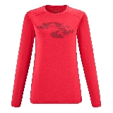 Millet Sneak Peak T-Shirt Long Sleeves Rouge  S
